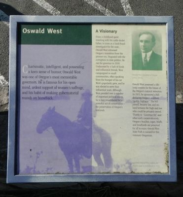 Oswald West Marker image. Click for full size.