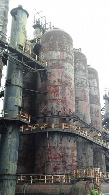 Blast Furnaces at SteelStacks image. Click for full size.