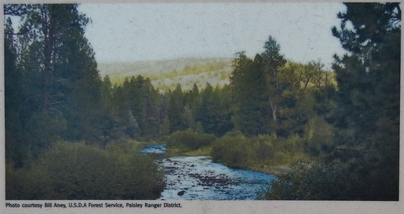 Marker detail: Chewaucan River image. Click for full size.