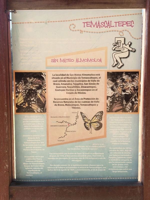 Piedra Herrada Monarch Butterfly Reserve Marker image. Click for full size.