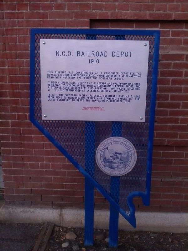 N.C.O. Railroad Depot Marker image. Click for full size.