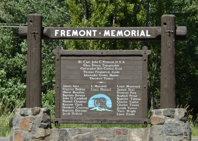 Fremont Memorial Marker (<i>side 2; wide view</i>) image. Click for full size.