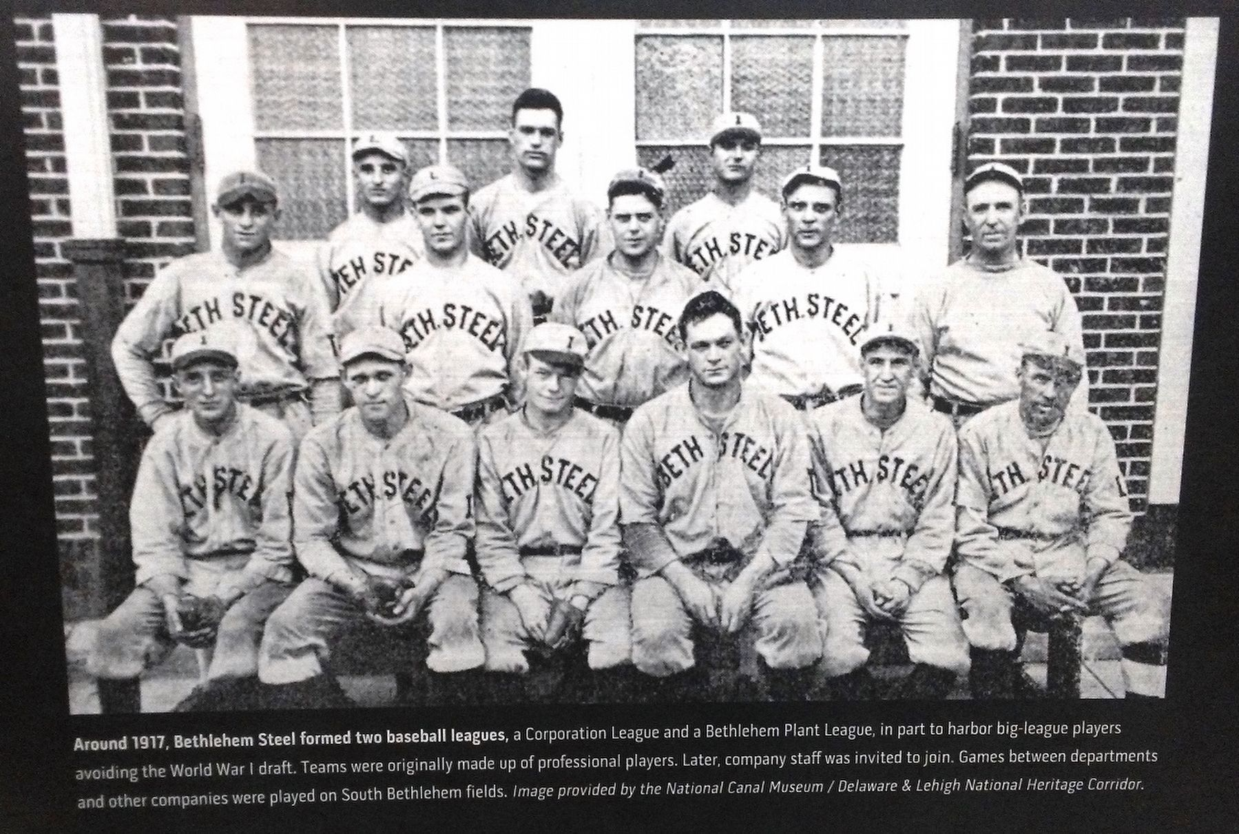 Baseball Team Photo on A Community of Workers Marker image. Click for full size.