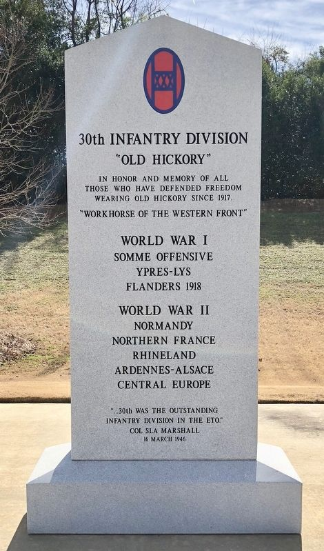 30th Infantry Division Memorial image. Click for full size.