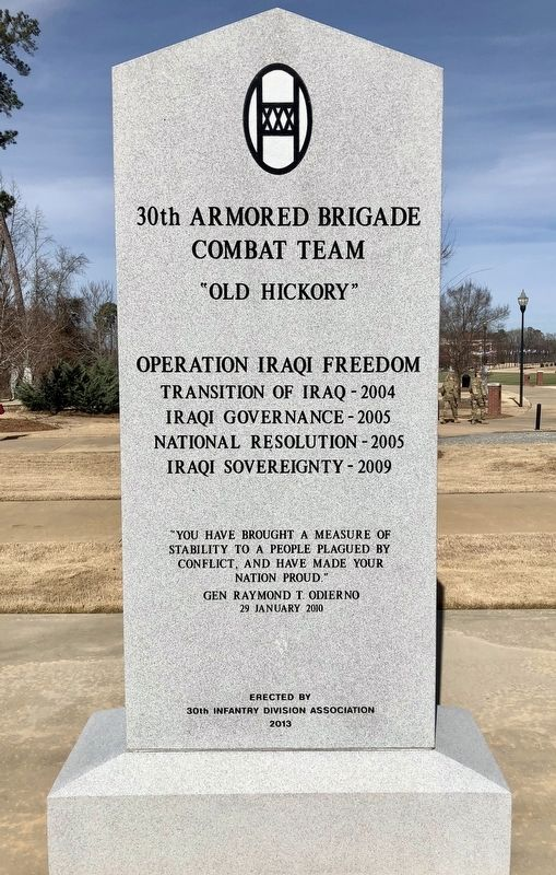 30th Armored Brigade Combat Team Memorial image. Click for full size.