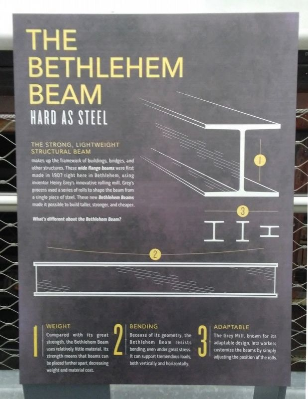 The Bethlehem Beam Marker image. Click for full size.