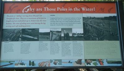 Why are Those Poles in the Water? Marker image. Click for full size.