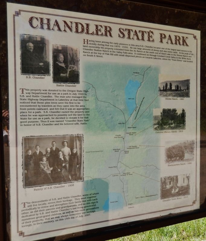 Chandler State Park Marker image. Click for full size.