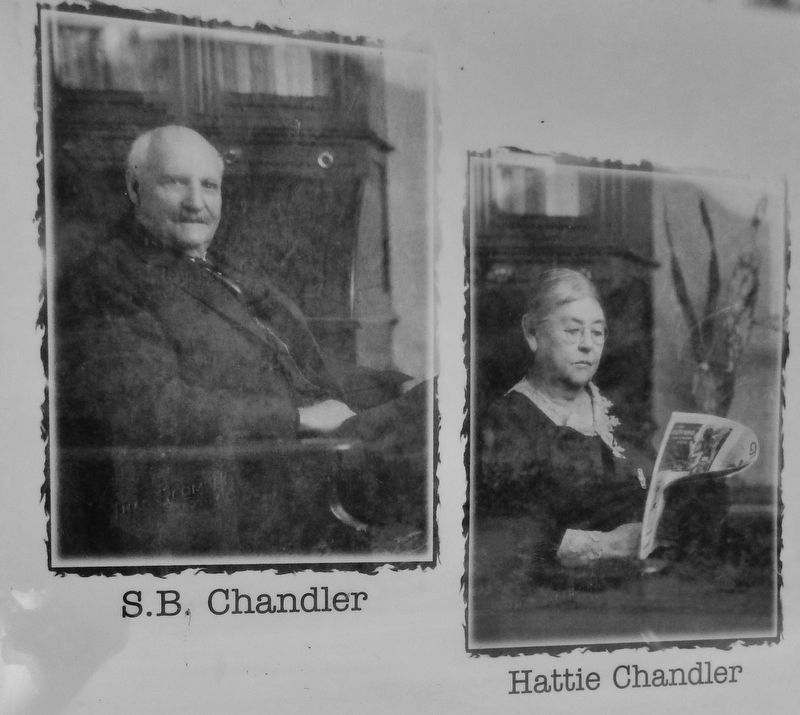 Marker detail: S.B. and Hattie Chandler image. Click for full size.