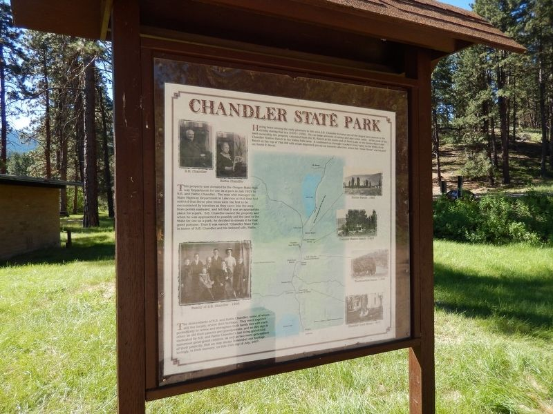 Chandler State Park Marker (<i>wide view</i>) image. Click for full size.