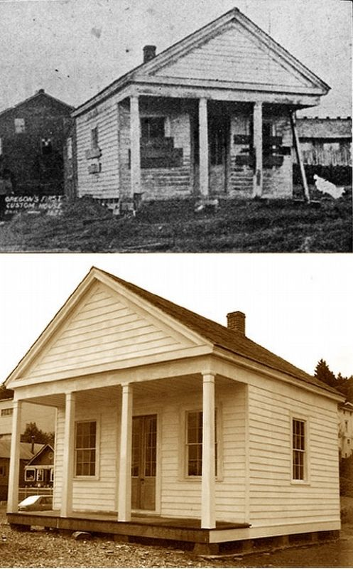 The Original Custom House and Reconstruction image. Click for full size.