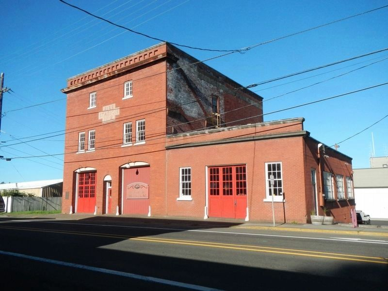 Fire Station No. 2 and Marker image. Click for full size.