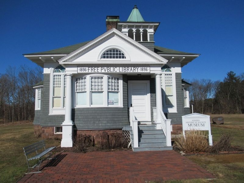The Somers Free Public Library 1896, now the Somers Historical Society Museum image. Click for full size.