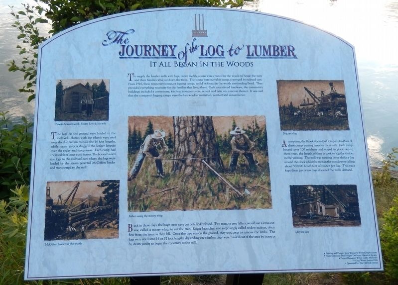 Journey of the Log to Lumber Marker image. Click for full size.