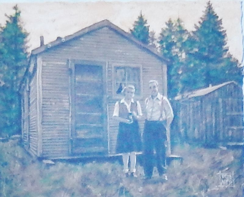 Marker detail: Brooks-Scanlon cook, Scotty Low & his wife image. Click for full size.