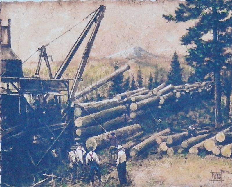 Marker detail: McGiffert loader in the woods image. Click for full size.
