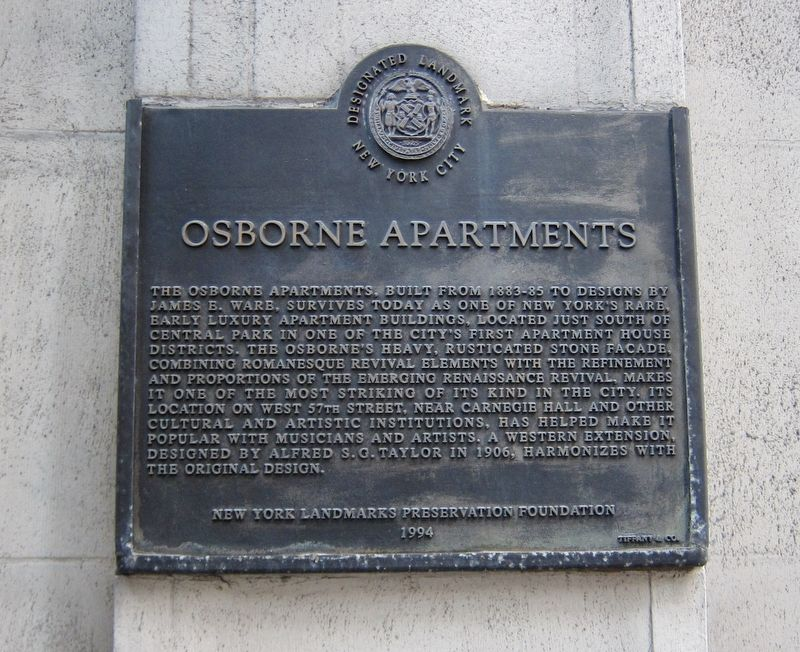 Osborne Apartments Marker image. Click for full size.