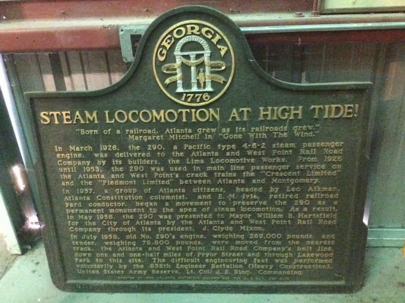 Steam Locomotion at High Tide! Marker image. Click for full size.