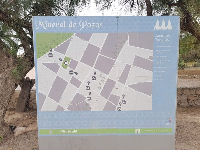 A nearby map of notable sites in Mineral de Pozos image. Click for full size.