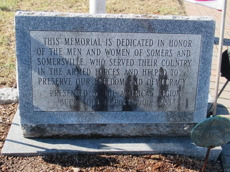 Somers and Somersville Veterans Memorial image. Click for full size.