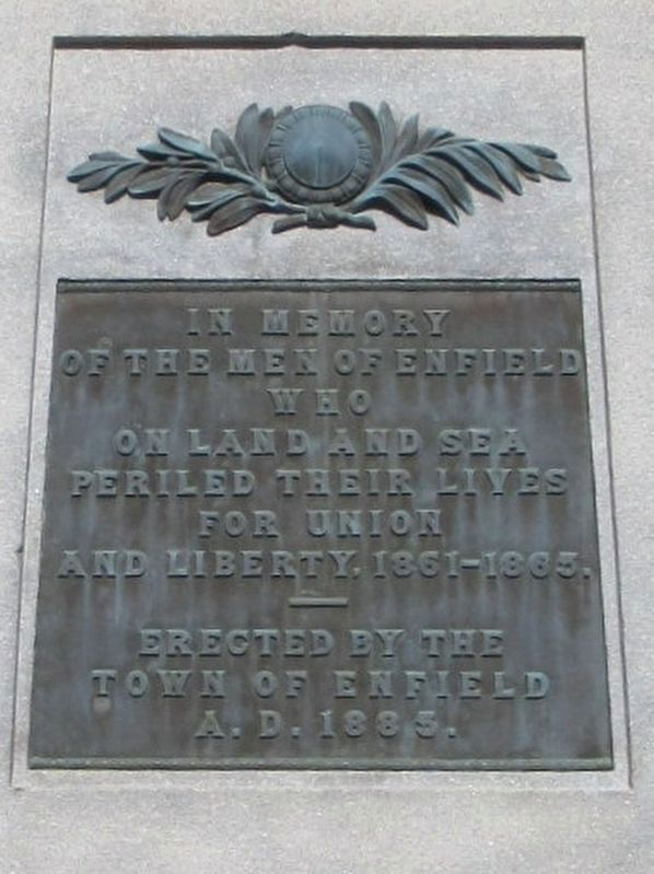 Enfield Soldiers Monument image. Click for full size.