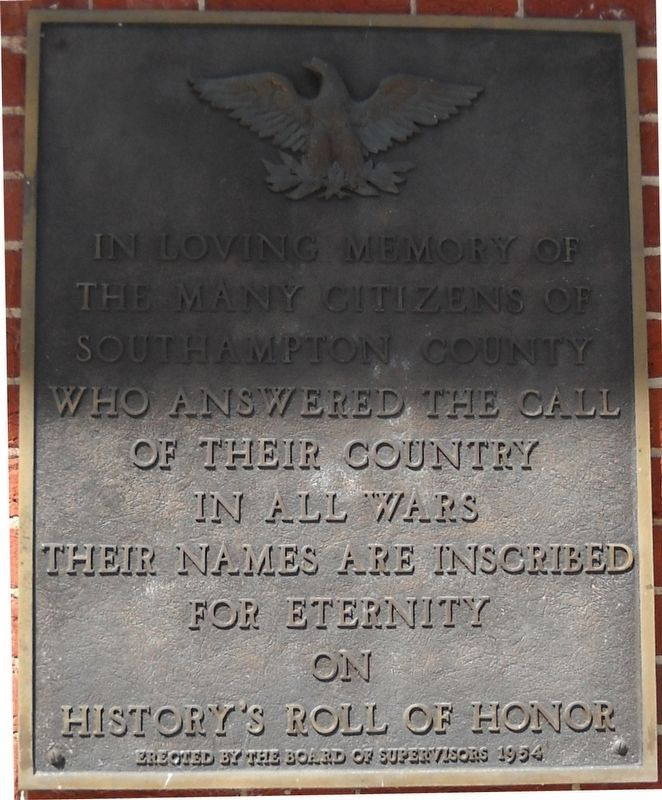 Southampton County Veterans Memorial image. Click for full size.