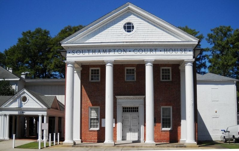 Southampton County Court House. image. Click for full size.