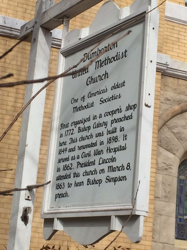 Dumbarton United Methodist Church Marker image. Click for full size.