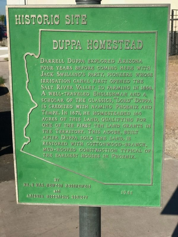Duppa Homestead Marker image. Click for full size.