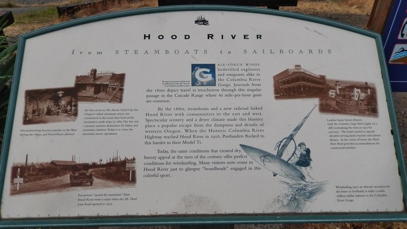 Hood River Marker image. Click for full size.