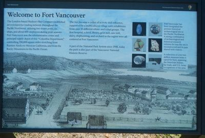 Welcome to Fort Vancouver Marker image. Click for full size.