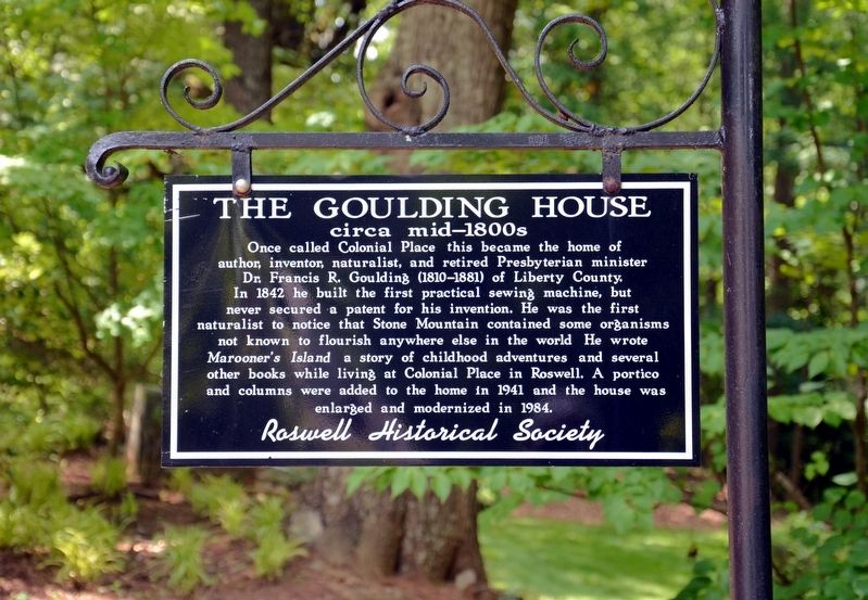 The Goulding House Marker image. Click for full size.