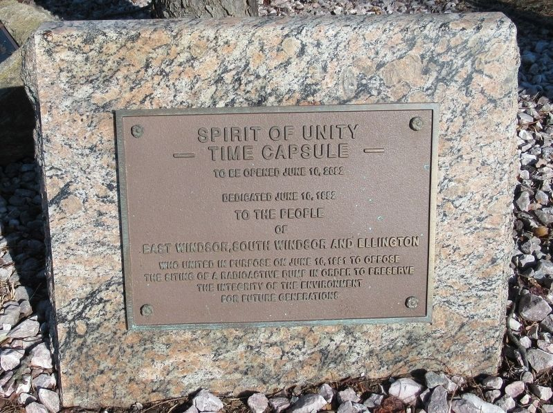 Spirit of Unity Time Capsule Marker image. Click for full size.