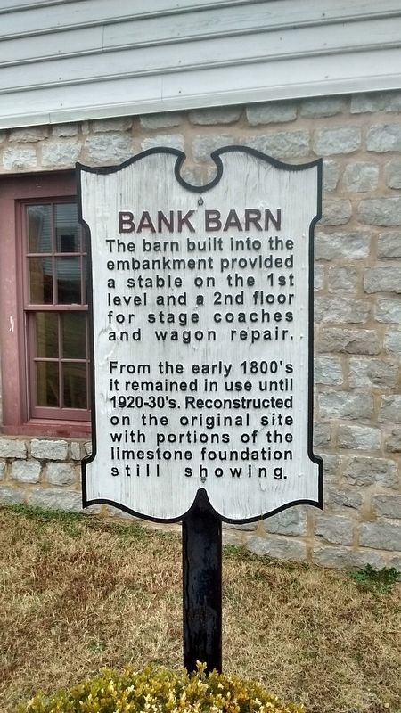 Bank Barn Marker image. Click for full size.