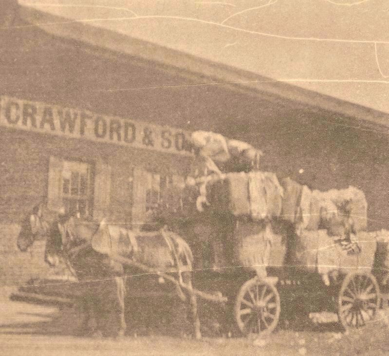 Marker detail: Crawford & Sons, circa 1900 image. Click for full size.