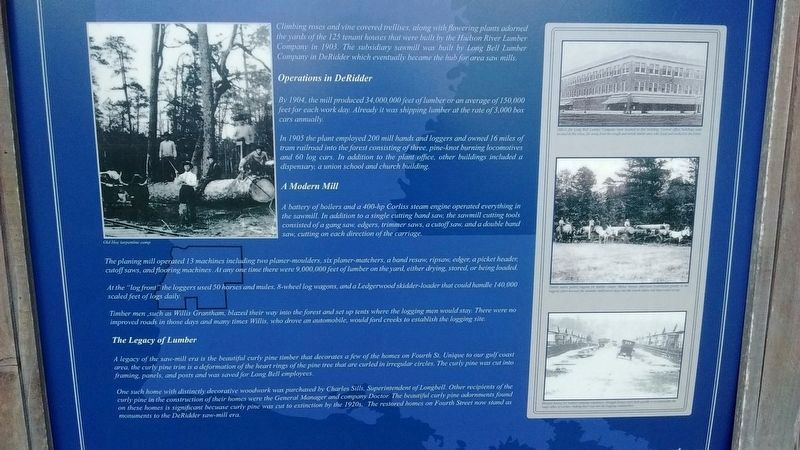 DeRidder - The Sawmill Hub Marker (center panel) image. Click for full size.