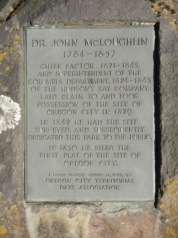 Dr. John McLoughlin Marker image. Click for full size.