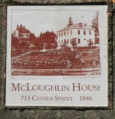 McLoughlin House plaque image. Click for full size.