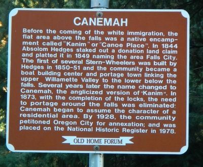 Canemah Marker image. Click for full size.