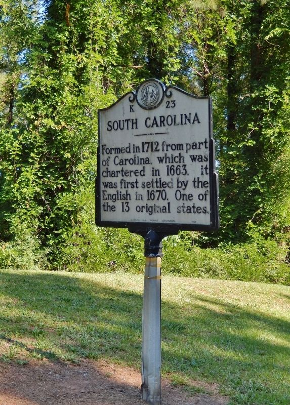 South Carolina Marker (<i>tall view</i>) image. Click for full size.