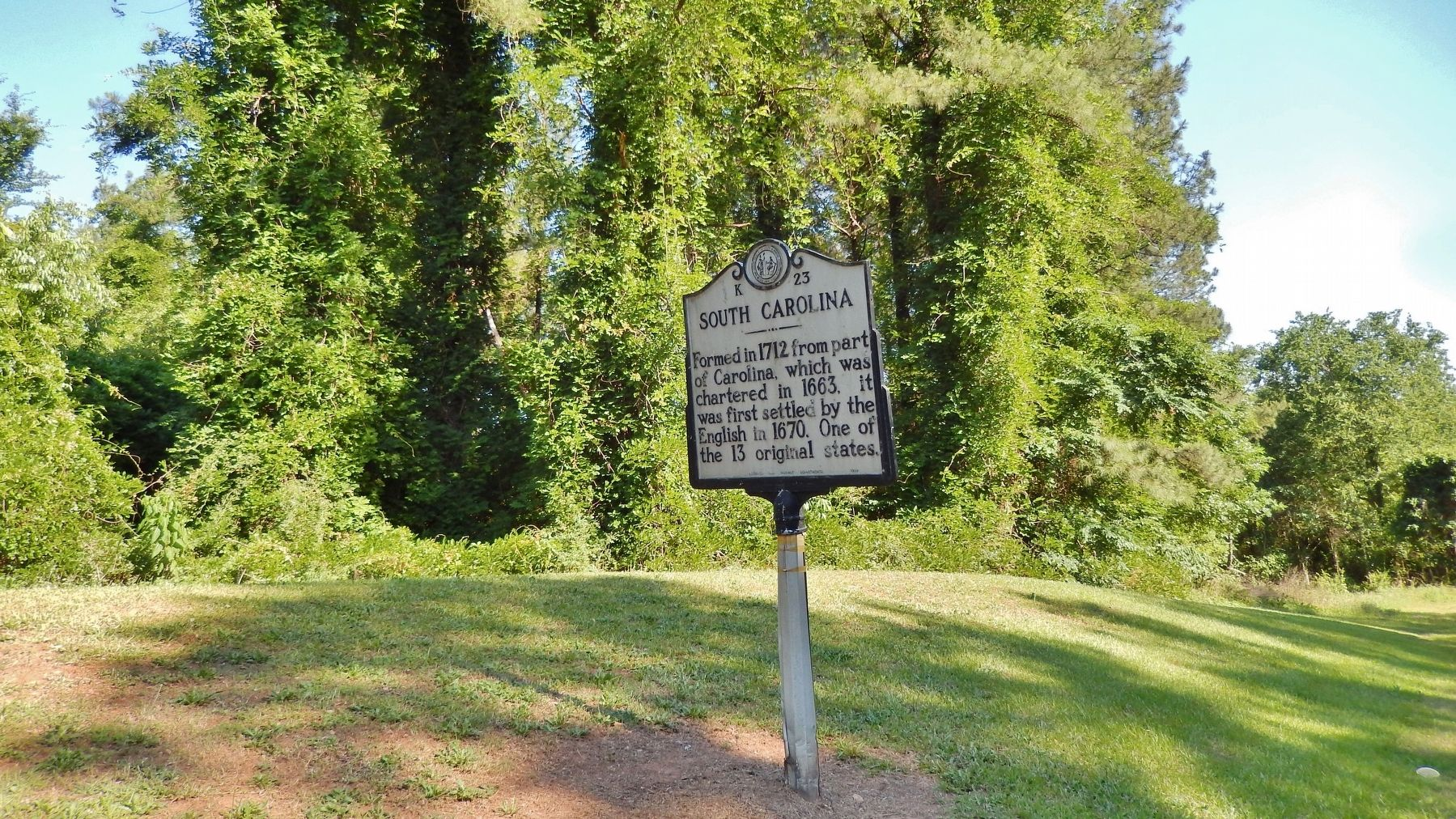 South Carolina Marker (<i>wide view</i>) image. Click for full size.