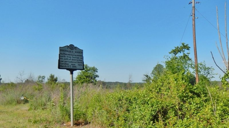 Sherman&#39;s March Marker (<i>wide view</i>) image. Click for full size.