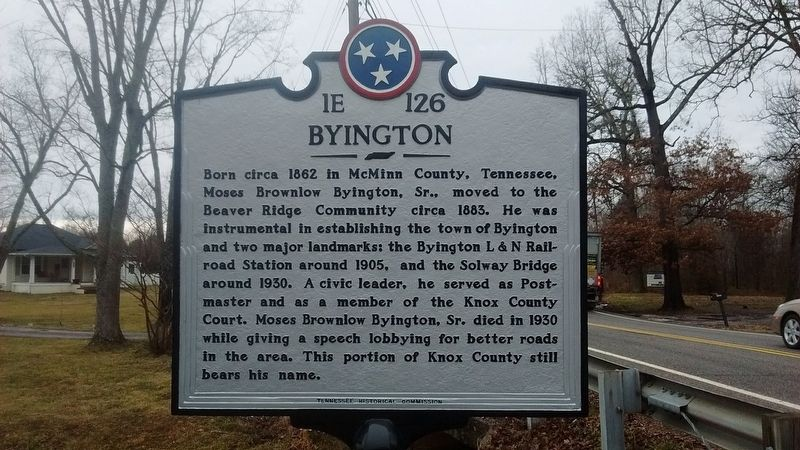 Byington Marker image. Click for full size.