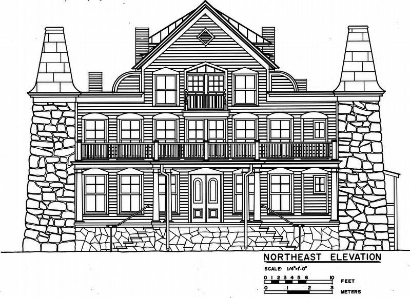 Clara Barton House<br>Northeast Elevation image. Click for full size.