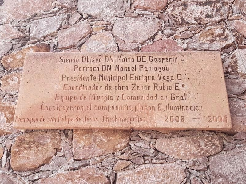 An additional marker at The Parish Church of Saint Philip of Jesus image. Click for full size.