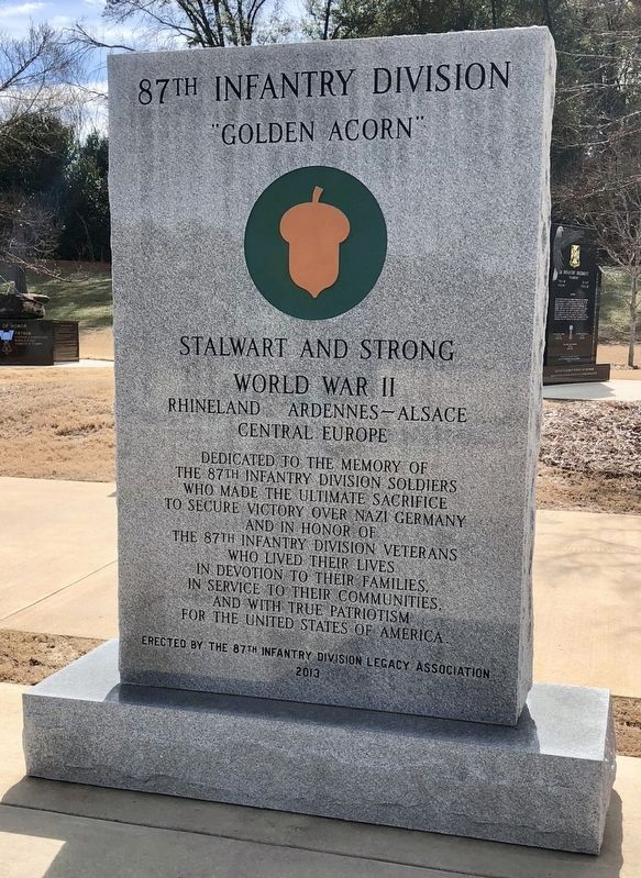 87th Infantry Division Monument image. Click for full size.