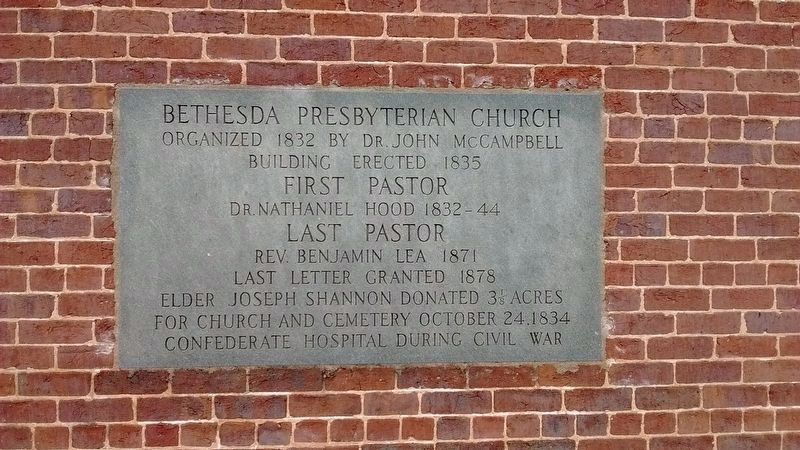 Bethesda Presbyterian Church image. Click for full size.
