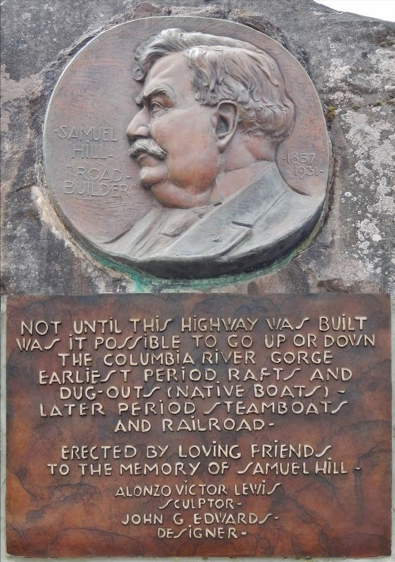 "Samuel Hill – ""Road Builder"" Marker (Composite photo) image. Click for full size."