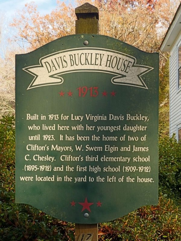 Davis Buckley House Marker image. Click for full size.