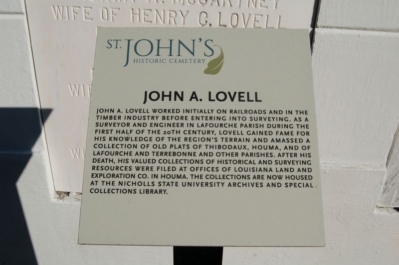 John A. Lovell Marker image. Click for full size.